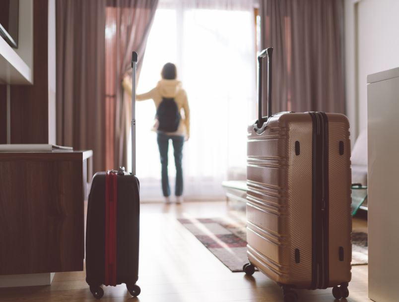 hotel room luggage