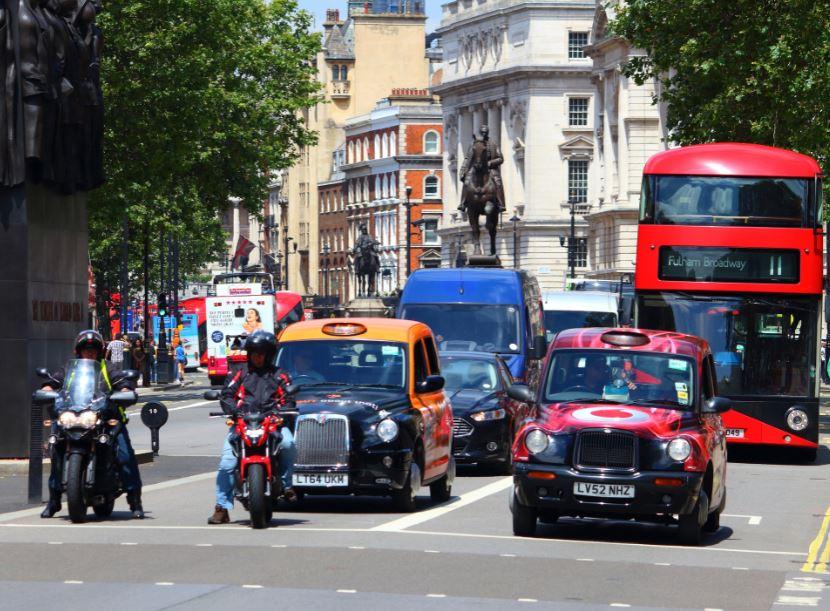 london bus taxi cab
