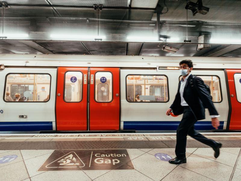 london underground tube mask