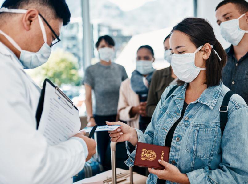 passport check masks