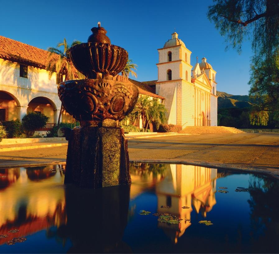 santa barbara mission california historic building