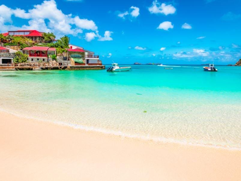 st barts beach sea yacht
