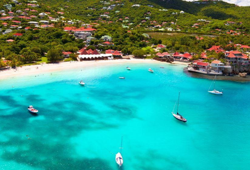 st barts beach yachts
