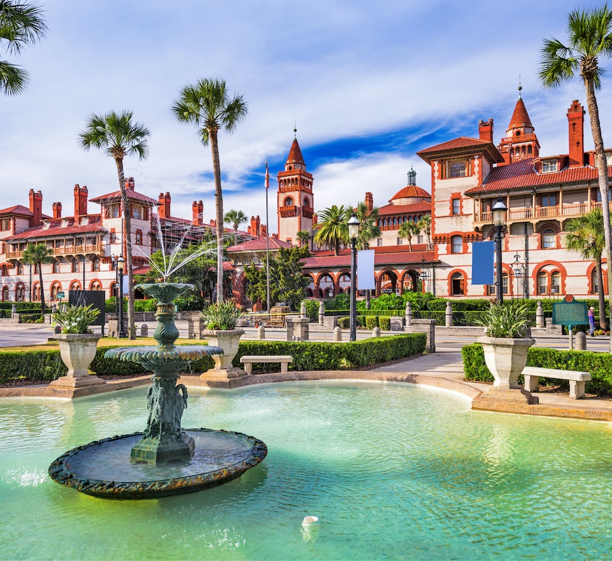 st. augustine cool town fountain