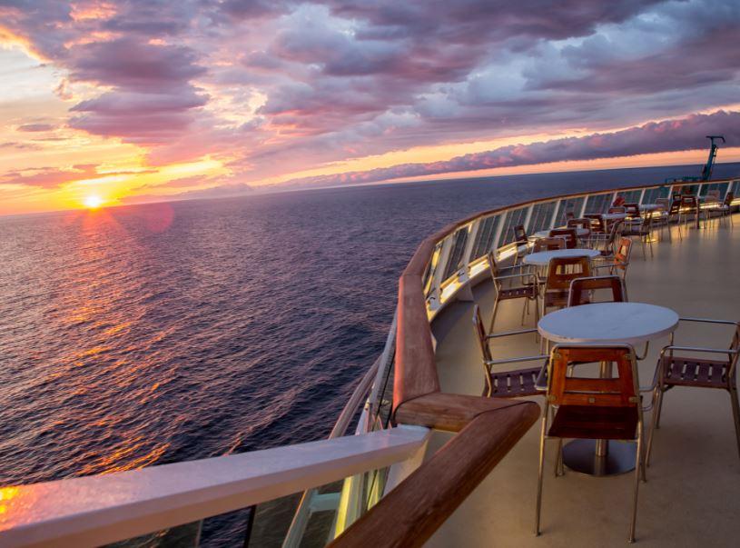 sunset cruise ship