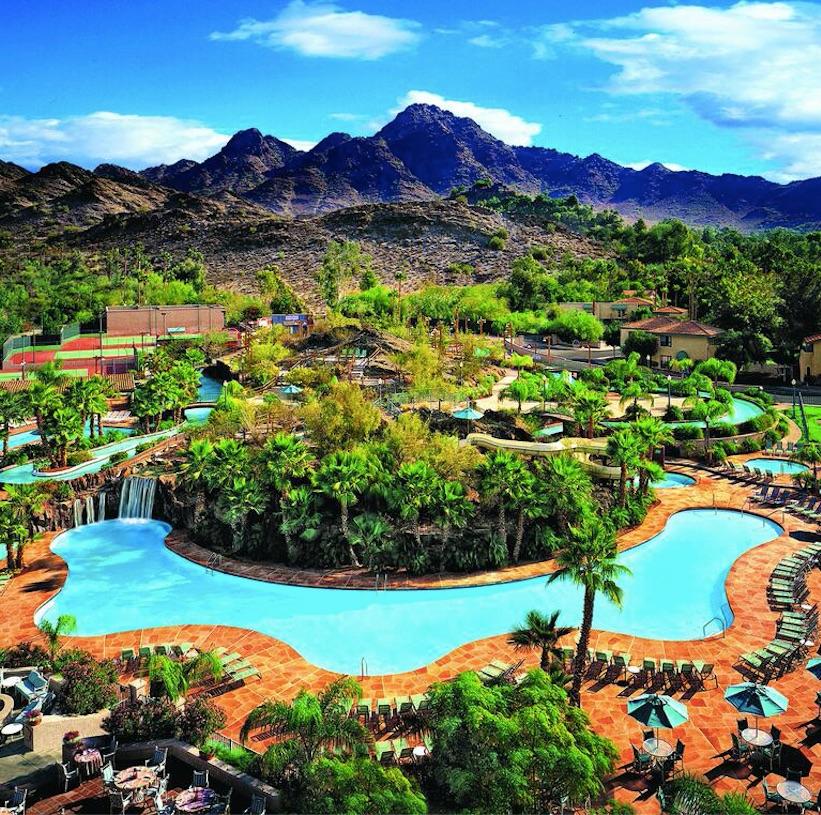 the hilton phoenix resort at the peak pool mountain