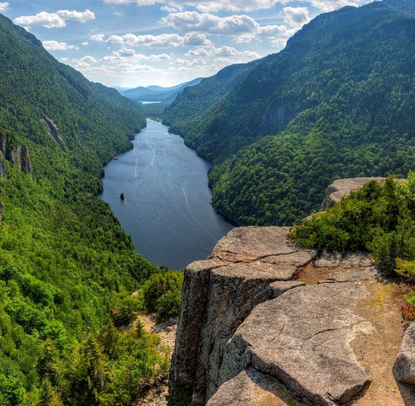 Adirondacks lake and peaks