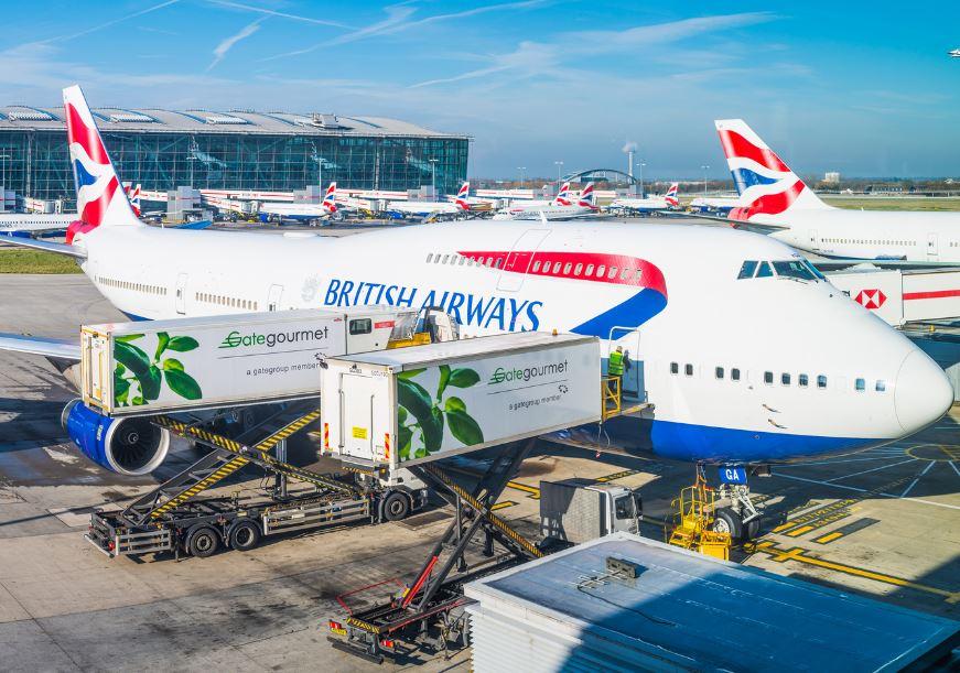 BA flight british airways heathrow airport