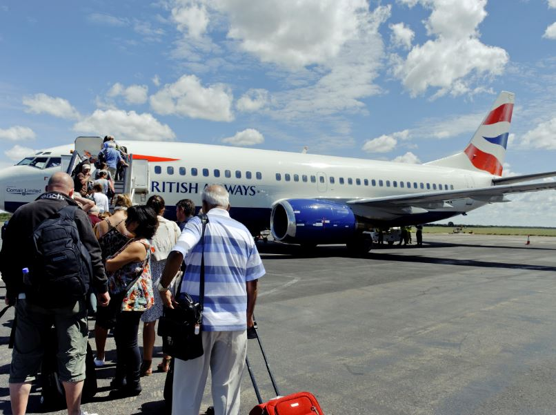 BA plane boarding