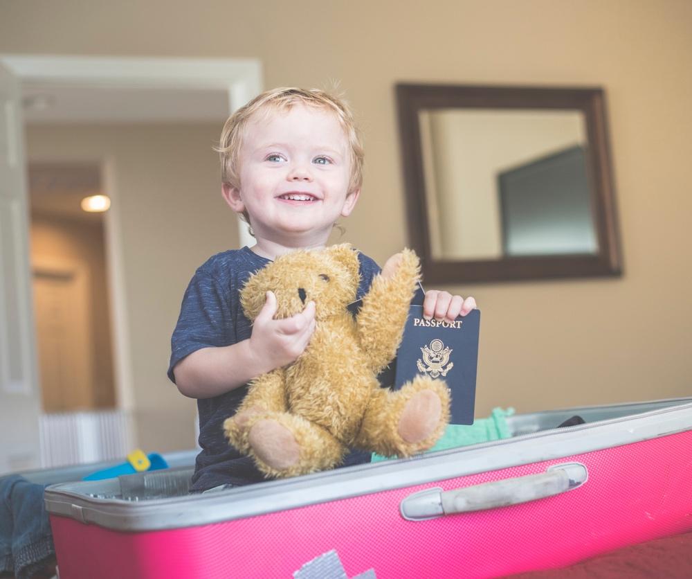 Child with passport