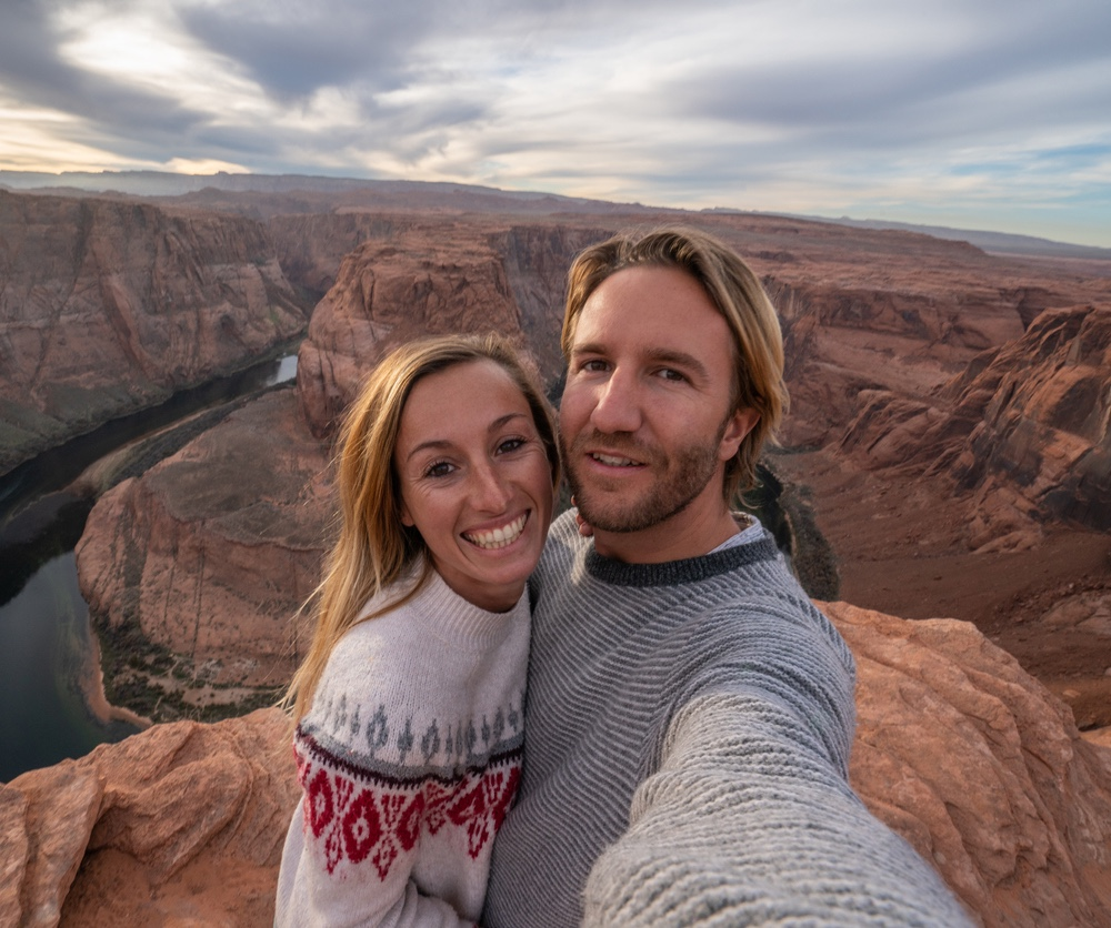 Couple at Horseshoe Bend Grand Canyon National Park.jpg