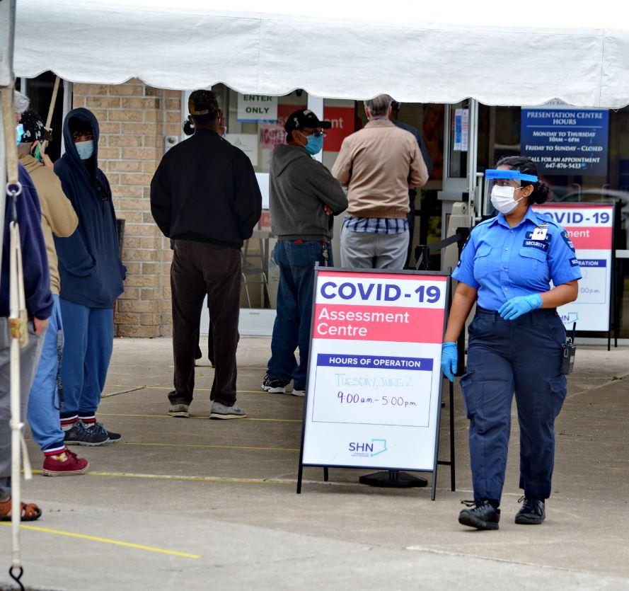 Covid test center