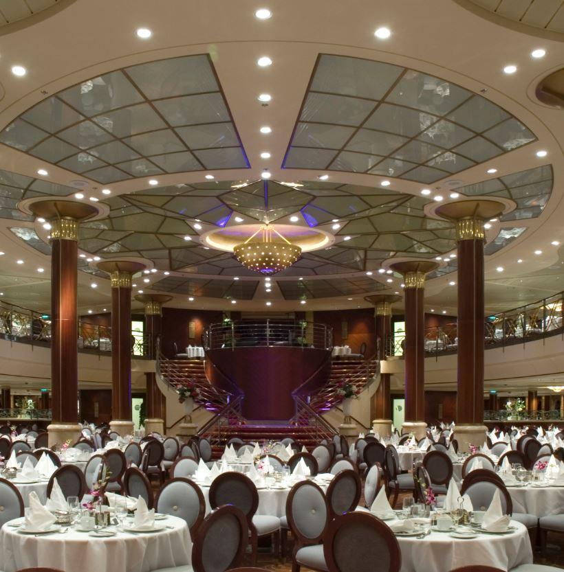Cruise ship dining hall