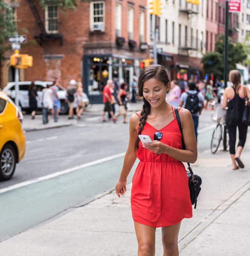 Female traveler new york