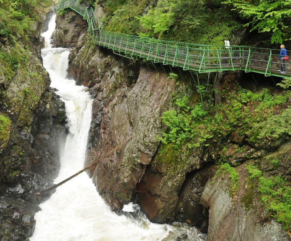 High Falls Gorge Waterfall, Adirondacks