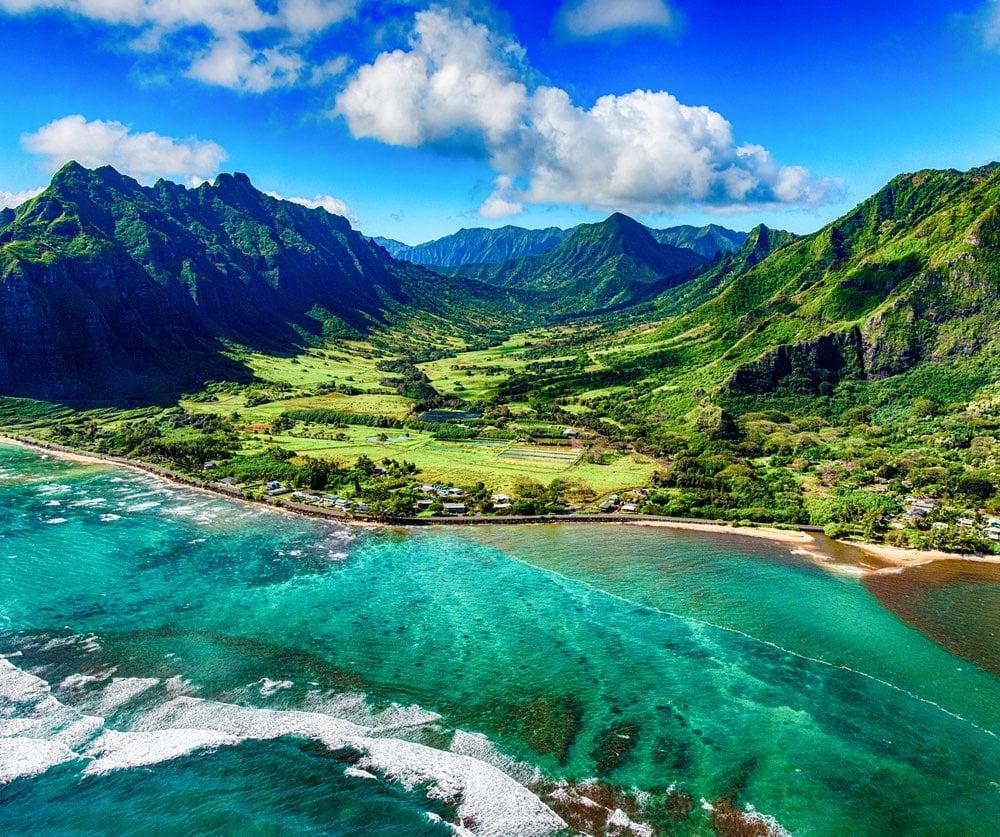 Oahu shore.