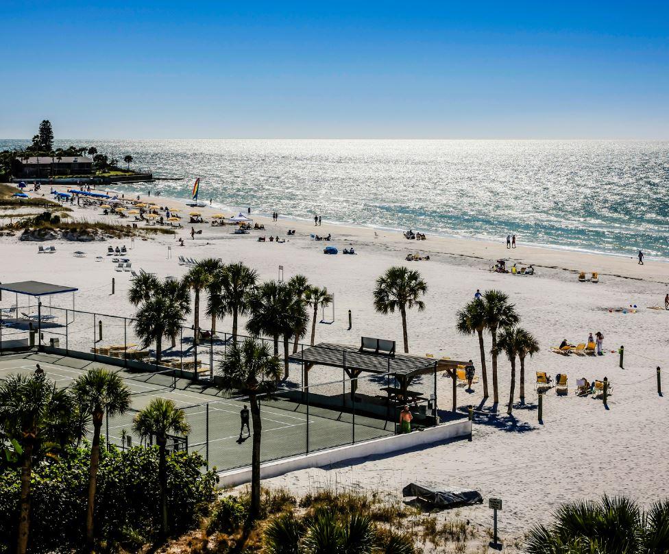 Beach and tennis courts Siesta Key