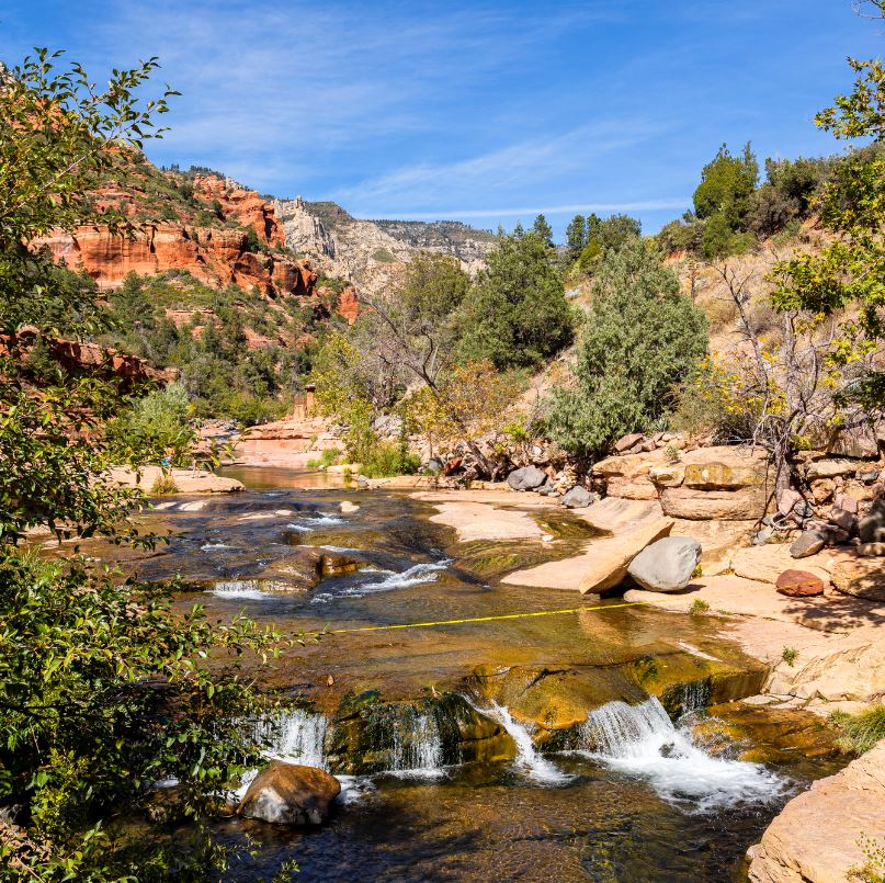 Slide Rock Route to Slide Rock Swimming Area
