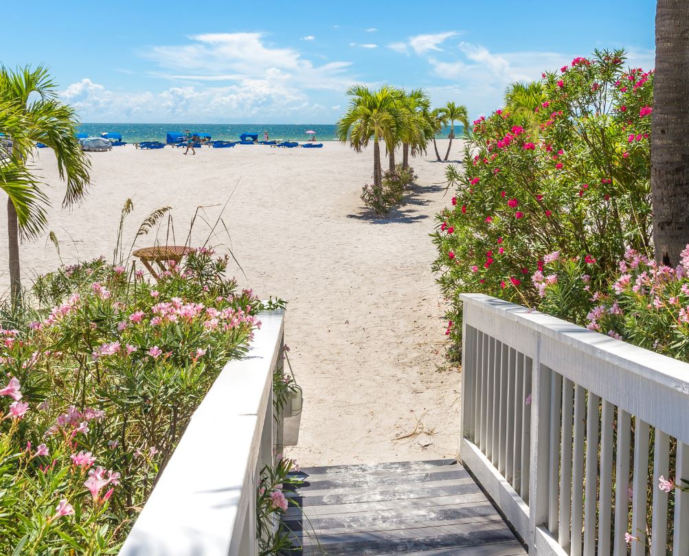 Beach and boardwalk, St Pete's Florida