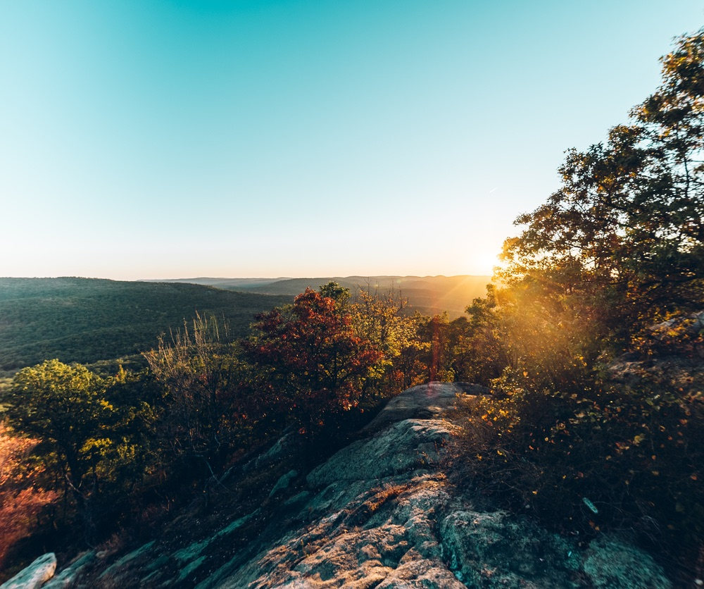 Sunset in Bear Mountain State Park