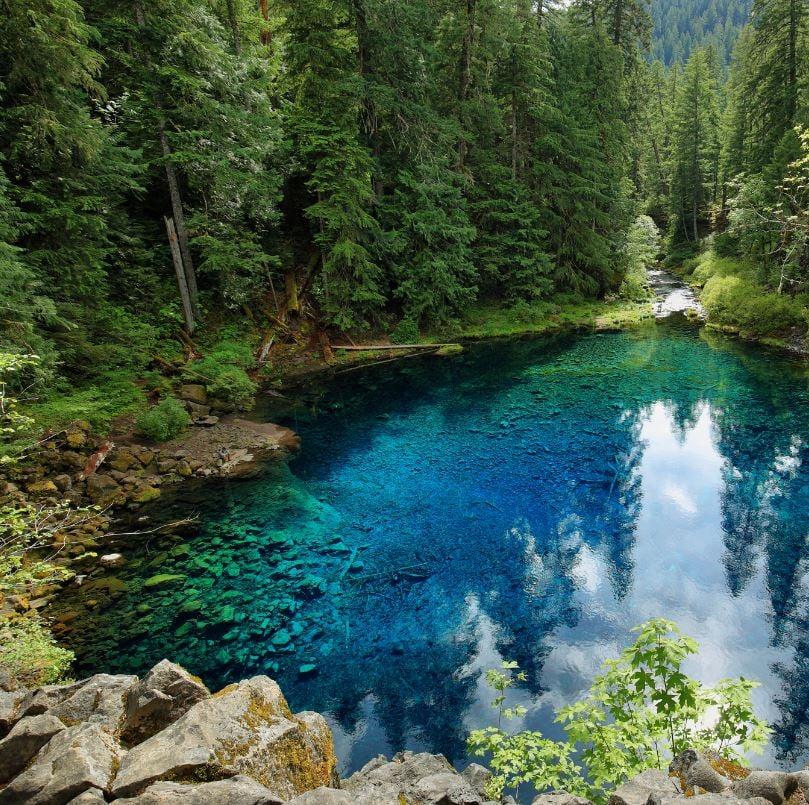 Tamolitch Blue Pool via McKenzie River Trail