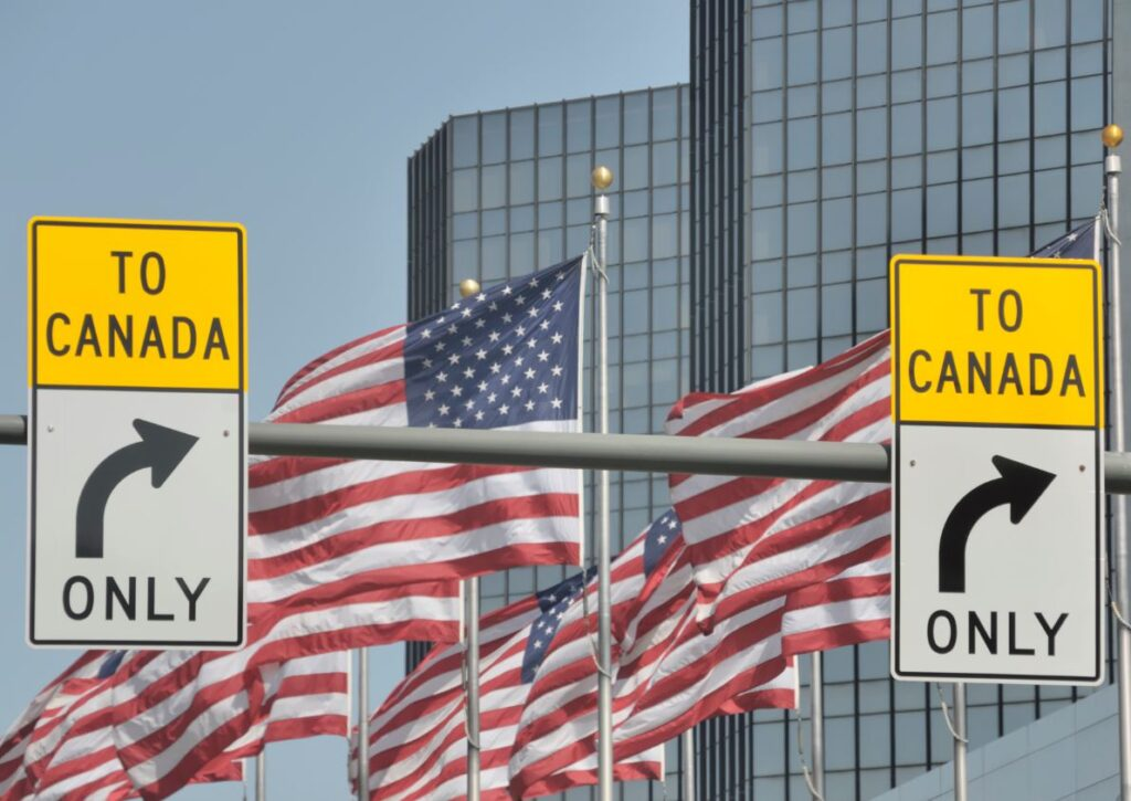 To Canada Signs