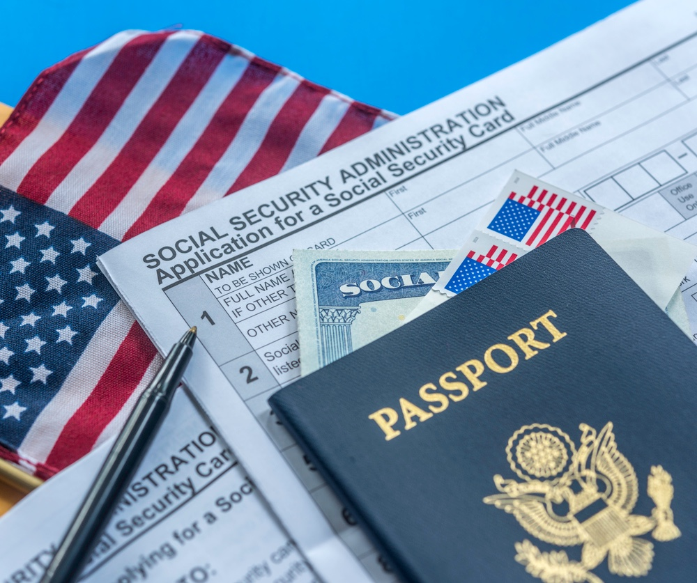 US passport and forms
