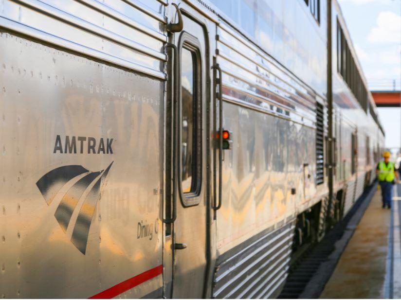 amtrak train side