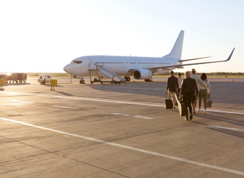 boarding flight