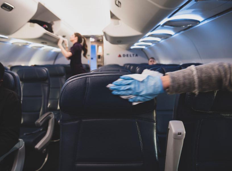 delta flight cabin disinfect