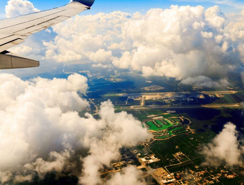 flight window view