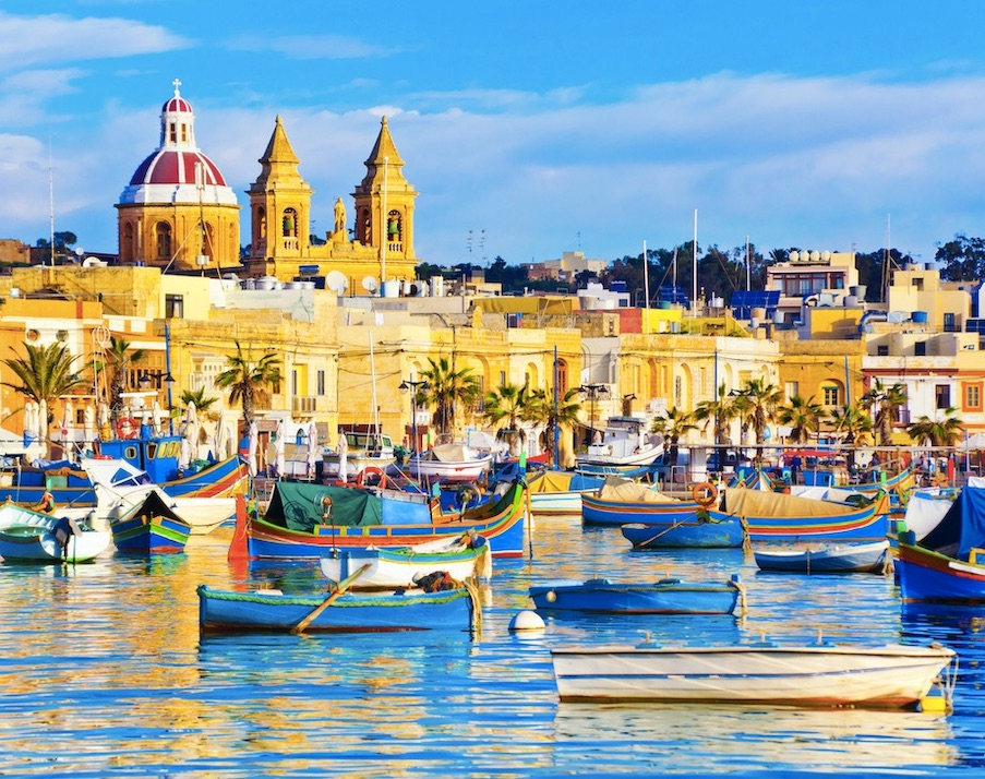 Malta fishing port
