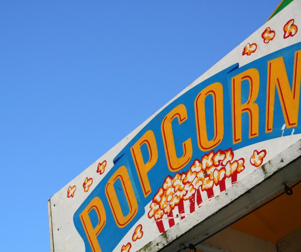 popcorn stand.