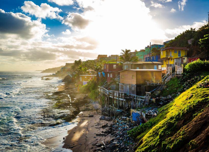 puerto rico buildings beach