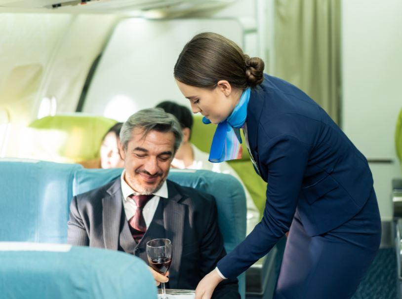 wine flight business class
