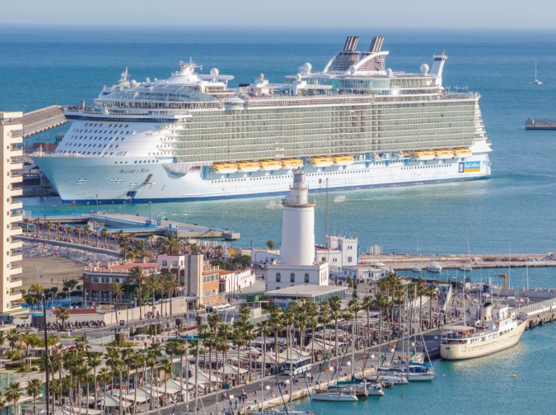 Allure of the Seas in Malaga port