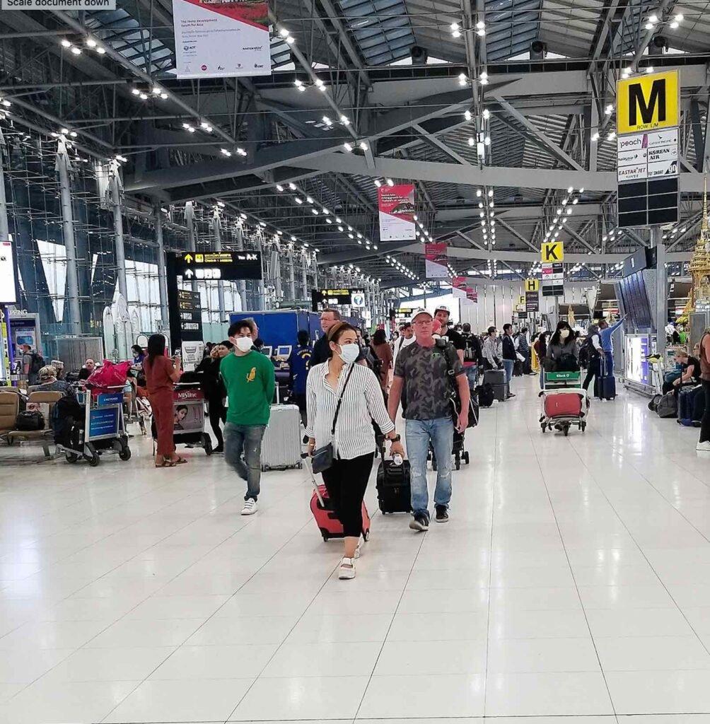 Bangkok airport during the pandemic