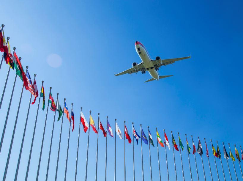 EU plane flags