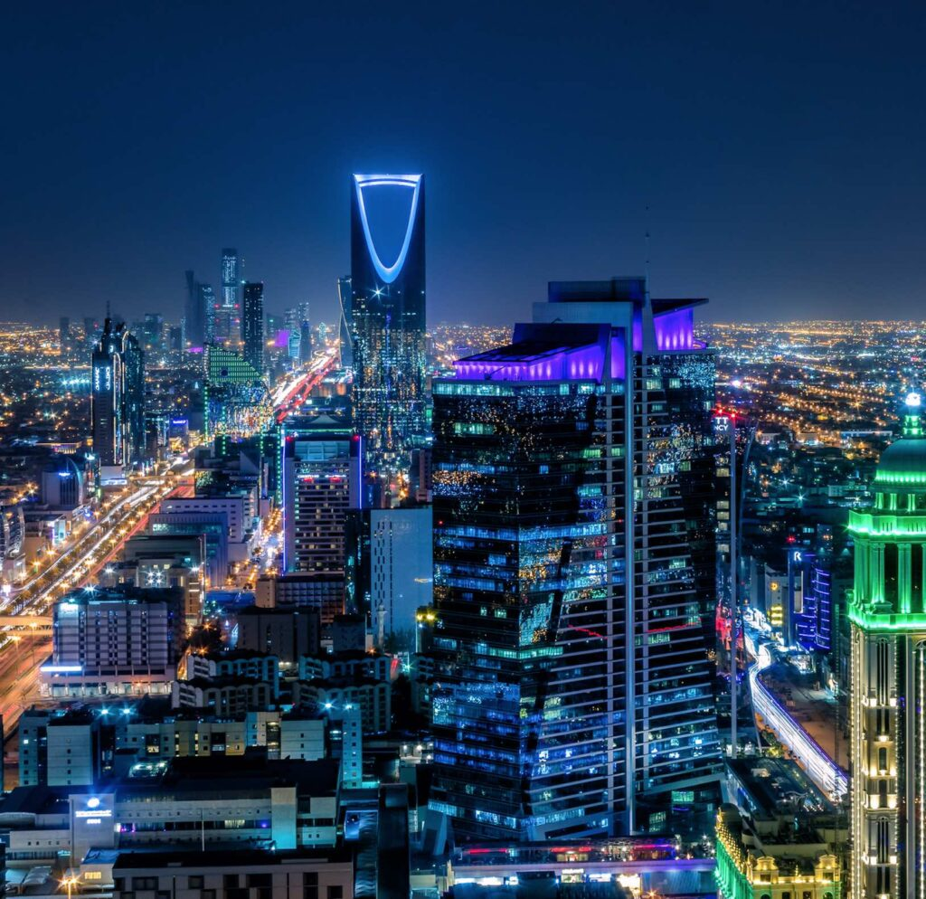 The view from the Kingdom Tower, Riyadh