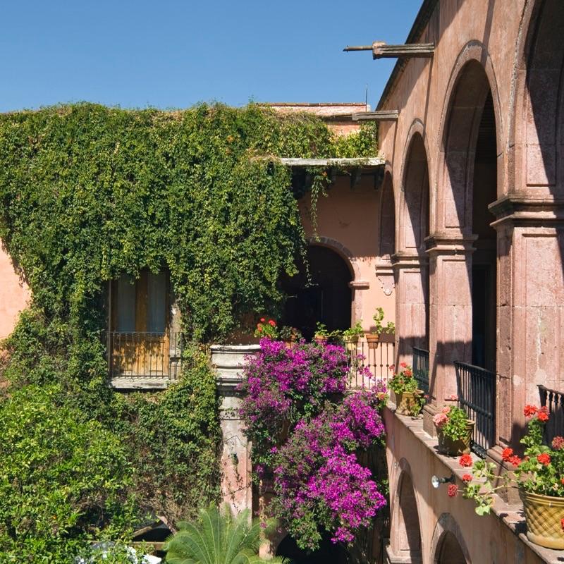 Hotel Courtyard, San Miguel de Allende, Mexico