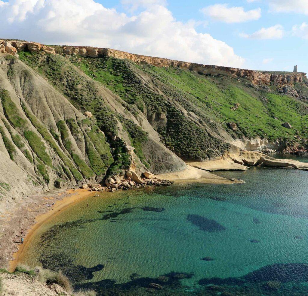 Malta Bay of Gnejna Bay