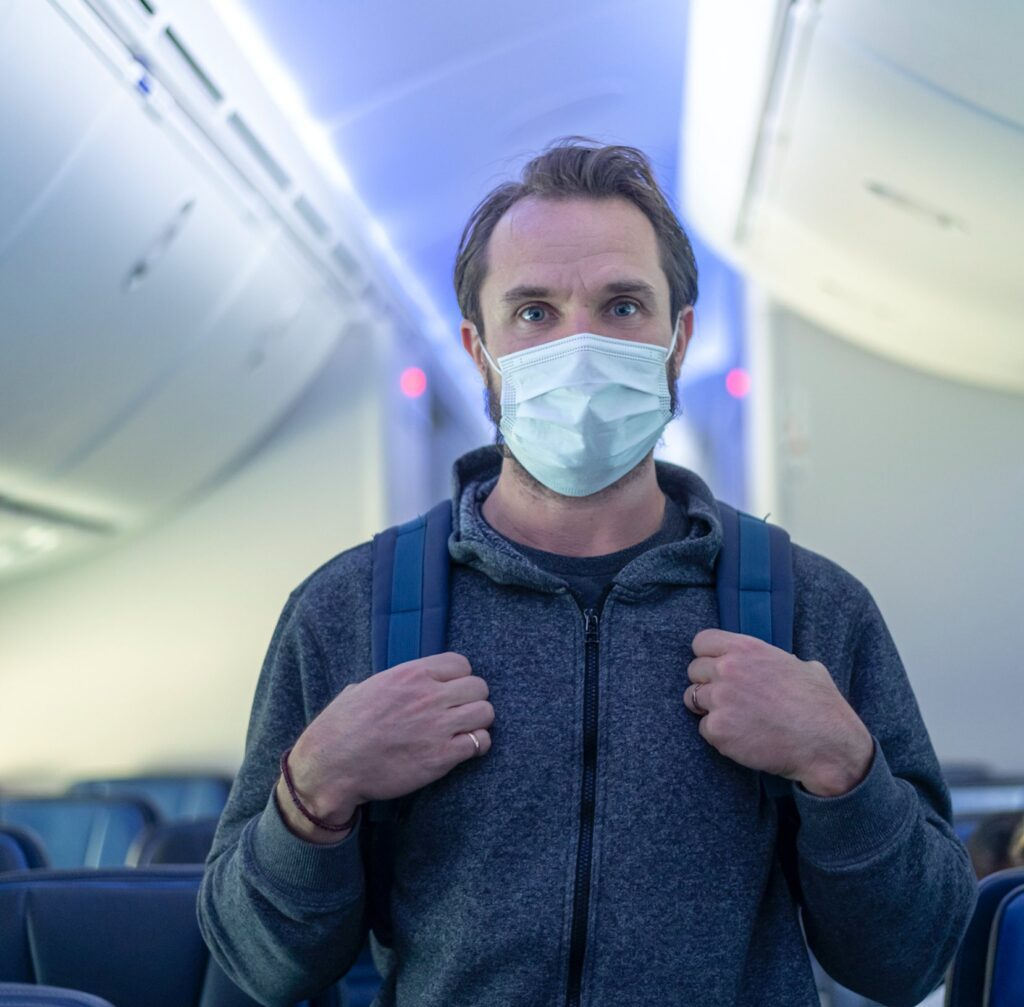 Mask on a plane