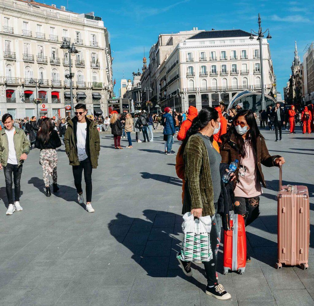 Masks in Madrid