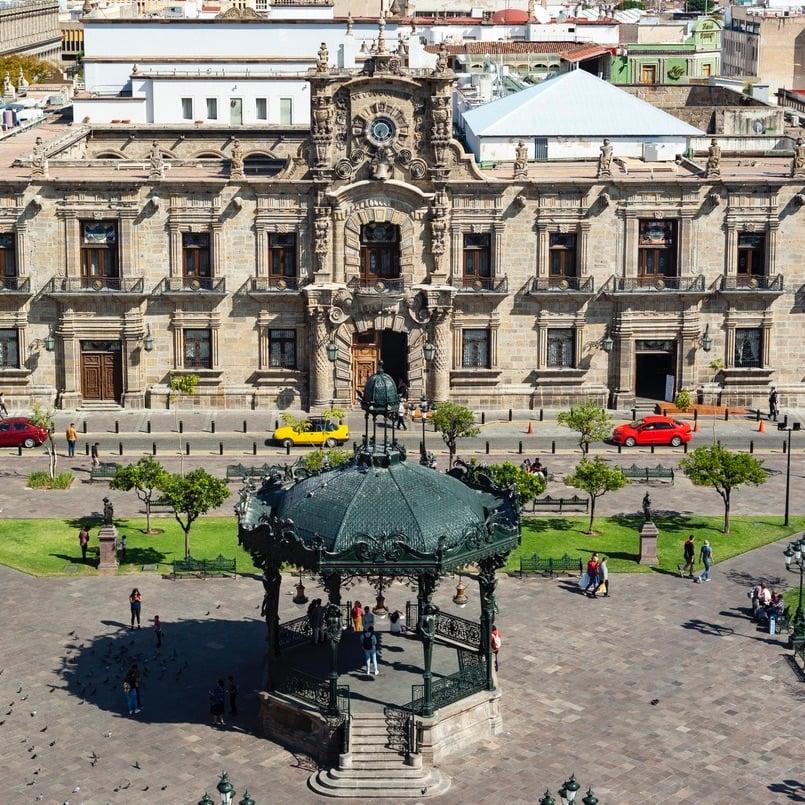 Plaza de Armas in Guadalajara Mexico