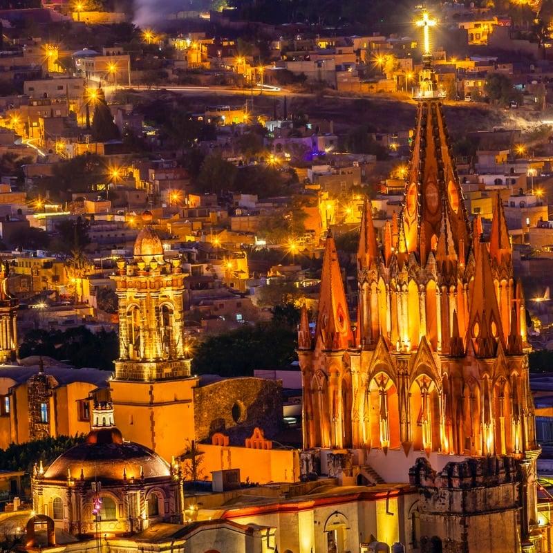 Night View, San Miguel de Allende, Mexico