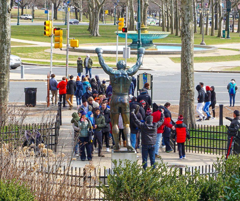 Rocky statue.