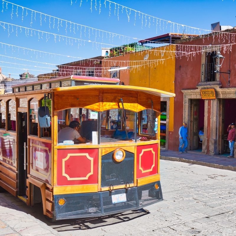San Miguel de Allende, street car, tours, Mexico