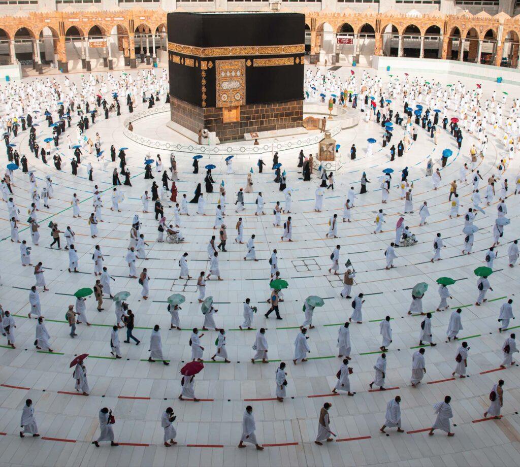 Social Distancing at the Al Haram Mosque Mekkah