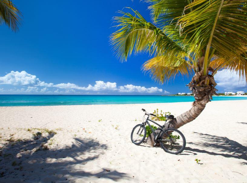 anguilla beach bicycle