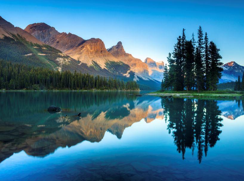 canada nature lake mountains